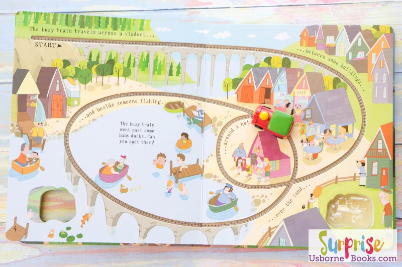 Usborne Pull-back Busy Train Book 2