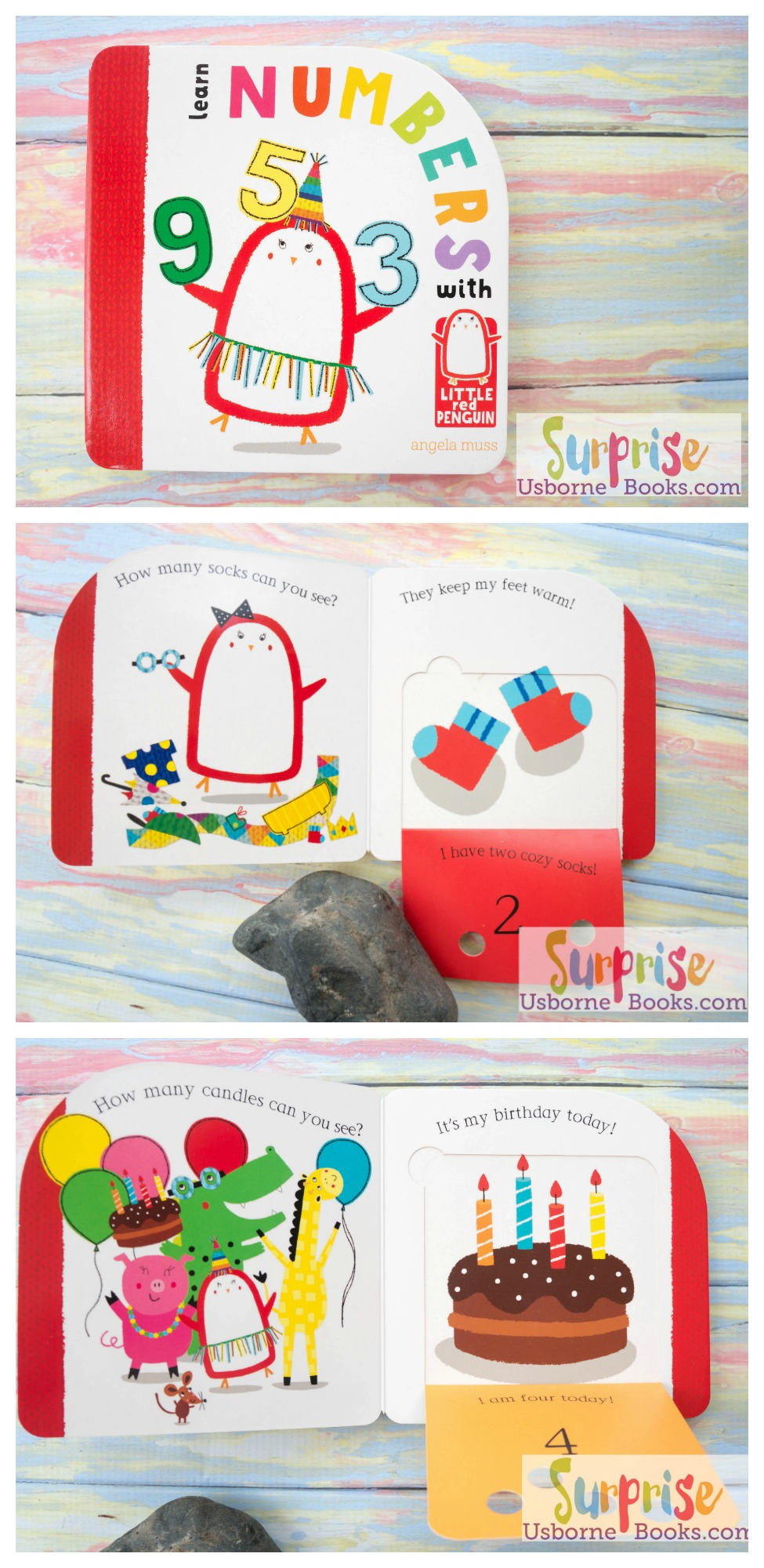 Little Red Penguin Learn Numbers - Surprise Usborne Books