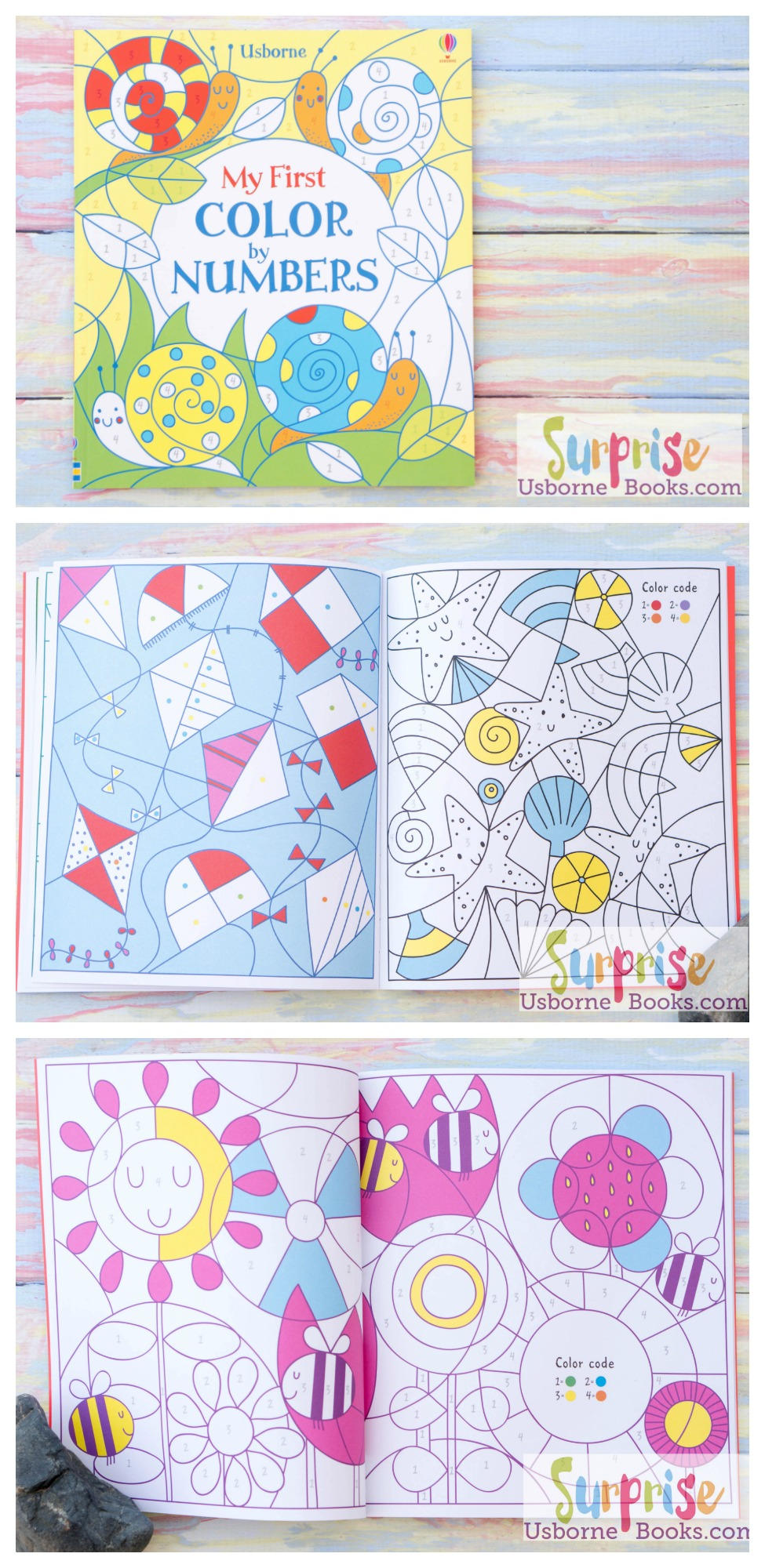 my first color by numbers surprise usborne books - Color Code Book