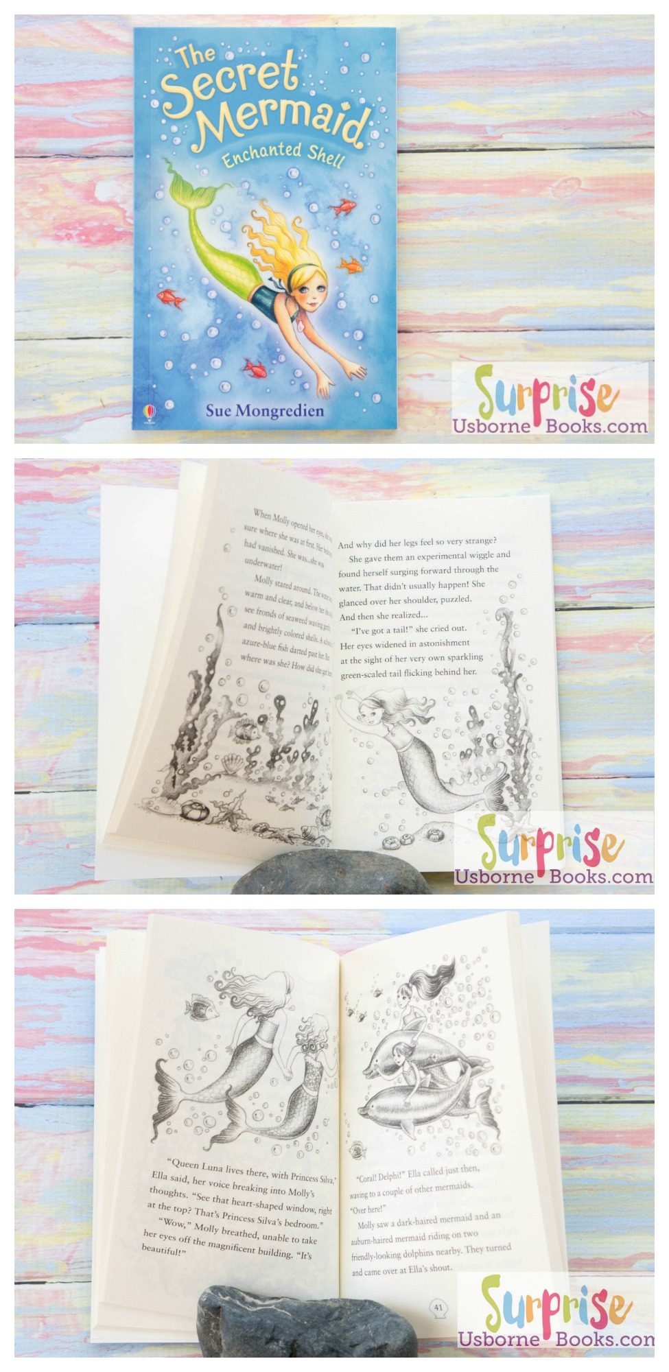 The Secret Mermaid Enchanted Shell - Surprise Usborne Books